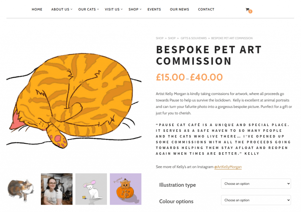 shop for personalised pet drawing